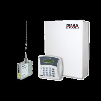 Kit de alarma de 6 zonas con teclado alfanumérico y radio de frecuencia media 450-470Mhz