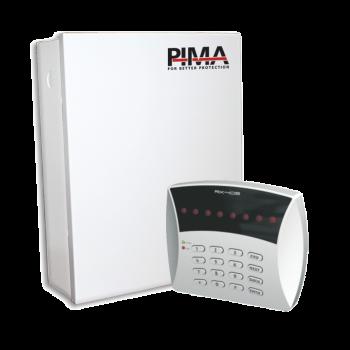 Kit de Alarma de 6 zonas y teclado LED 6 Zonas. Triple comunicador RADIO/Teléfono/GSM. Incluye gabinete
