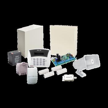 Kit de Alarma PIMA Hunter8 todo Incluido. Bateria, Transformador, Sirena, Teclado, 2 Contactos Magneticos y un sensor de Movimiento
