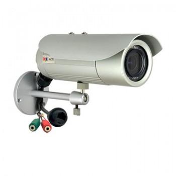 Cámara bala varifocal de 5MP día/noche real para exterior con LEDs IR, audio y micro SDXC
