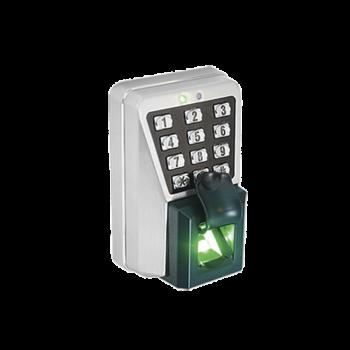 (ZK MA500)Lector IP de Huella y Proximidad con Teclado Antivandálico para Exterior. Integración Directa con software de control de acceso ZK ACCESS 3.5 para una Administración Fácil y Eficiente.