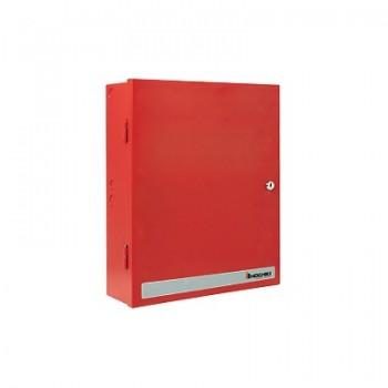 Fuente de poder, Seleccionable 12 ó 24 Vcd 3A, Gabinete color rojo.