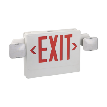 Señal de salida luminosa con batería y lamparas de emergencia, rojo
