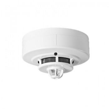 Detector humo fotoeléctrico y temperatura con zumbador de 4 hilos Ideal para paneles de incendio