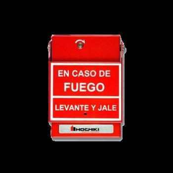 Estación de jalón convencional de doble acción, color rojo y Anuncio en Español