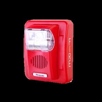 Sirena/estrobo, color rojo, 12 Vcd