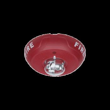 Sirena con Lámpara Estroboscópica, Montaje en Techo, Nivel de Candelas Seleccionable, Color Rojo, Nuevo Diseño Moderno y Elegante y Menor Consumo de Corriente